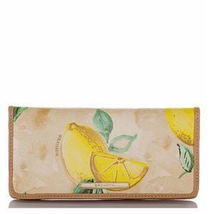 NWOT Brahmin Ady Wallet in Lemon Amalfi